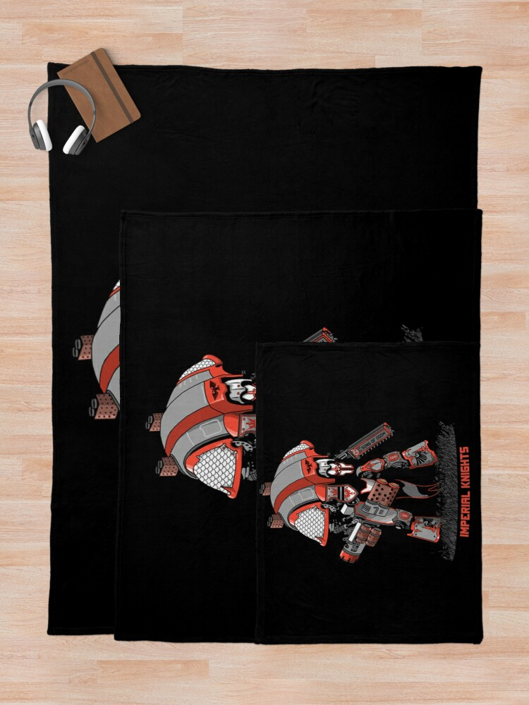 Alternate view of Imperial Knight Character Model Warhammer 40K Throw Blanket