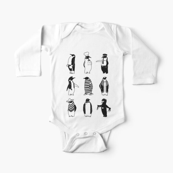 Know Your Penguins Long Sleeve Baby One-Piece
