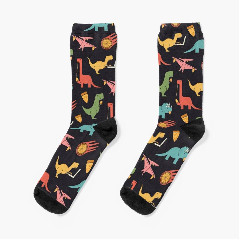 Pizza Dinos Socks
