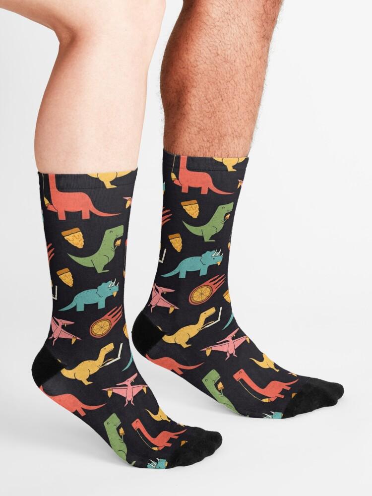 Alternate view of Pizza Dinos Socks