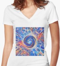 #Deepdreamed Abstraction Fitted V-Neck T-Shirt