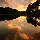 Sunburst over Umiam by Vikram Franklin