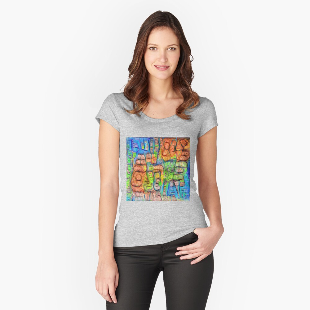 #Deepdreamed abstraction Fitted Scoop T-Shirt