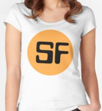 Library Geek - Sci Fi  Women's Fitted Scoop T-Shirt