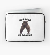 HUG HARD OR GO HOME (black) Laptop Sleeve
