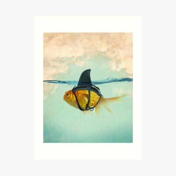 brilient disguise, goldfish with a shark fin Art Print