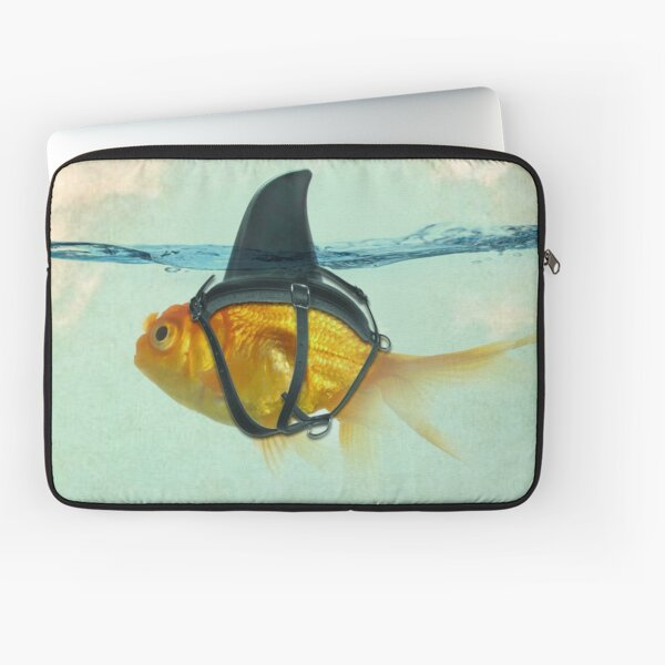 brilient disguise, goldfish with a shark fin Laptop Sleeve