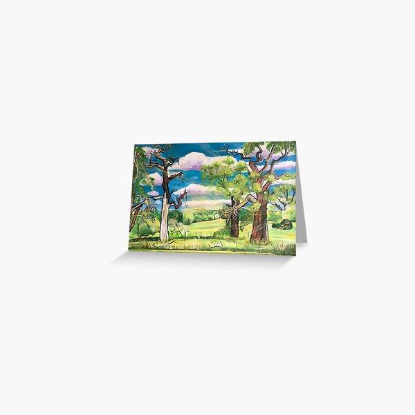 Under The Oak Tree: Looking Ahead Greeting Card