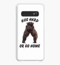 HUG HARD OR GO HOME (black) Case/Skin for Samsung Galaxy