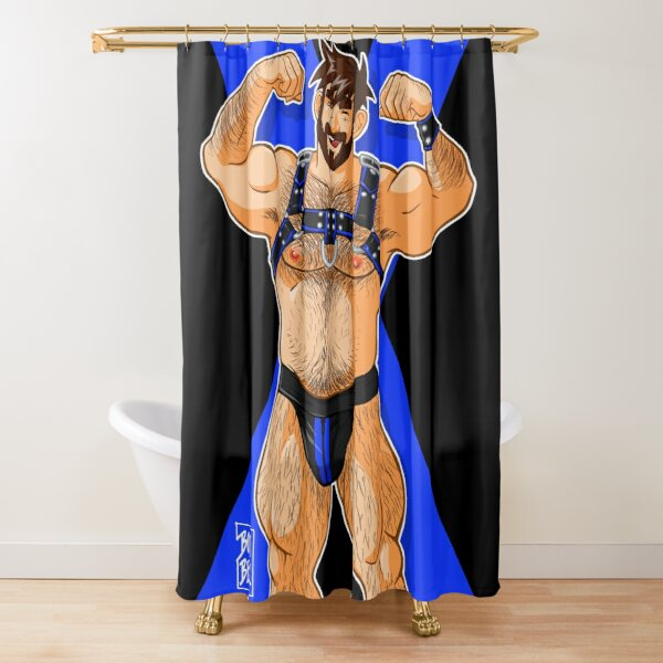 ADAM LIKES HARNESS - BLUE Shower Curtain