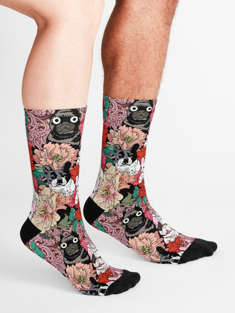 Alternate view of Because French Bulldog  Socks