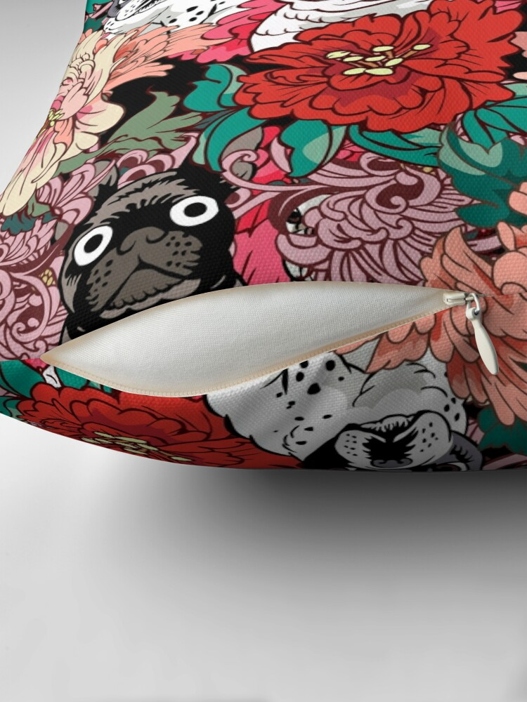 Alternate view of Because French Bulldog  Throw Pillow