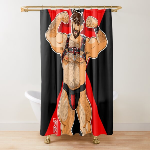 ADAM LIKES HARNESS - RED Shower Curtain