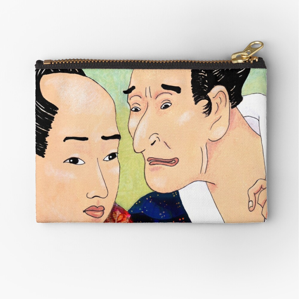 Mr Hokusai and Mr Hiroshige Zipper Pouch