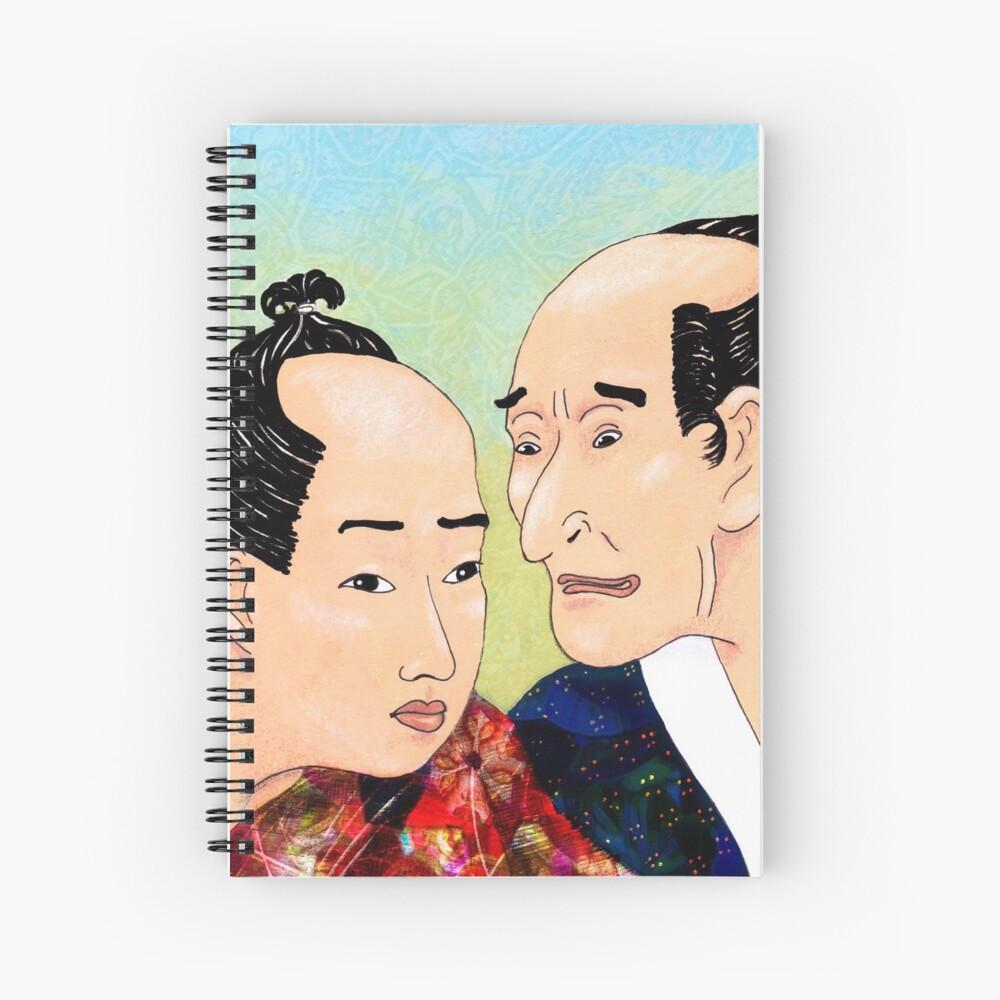 Mr Hokusai and Mr Hiroshige Spiral Notebook