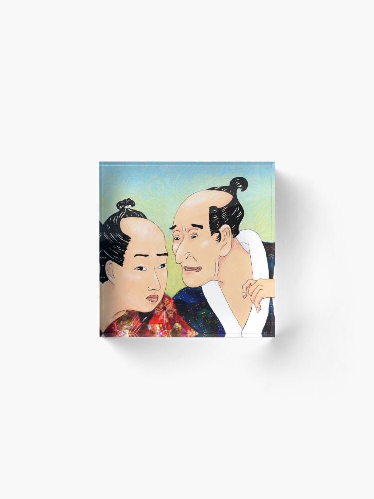 Alternate view of Mr Hokusai and Mr Hiroshige Acrylic Block