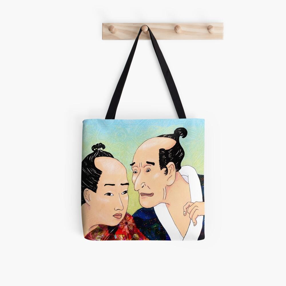 Mr Hokusai and Mr Hiroshige Tote Bag