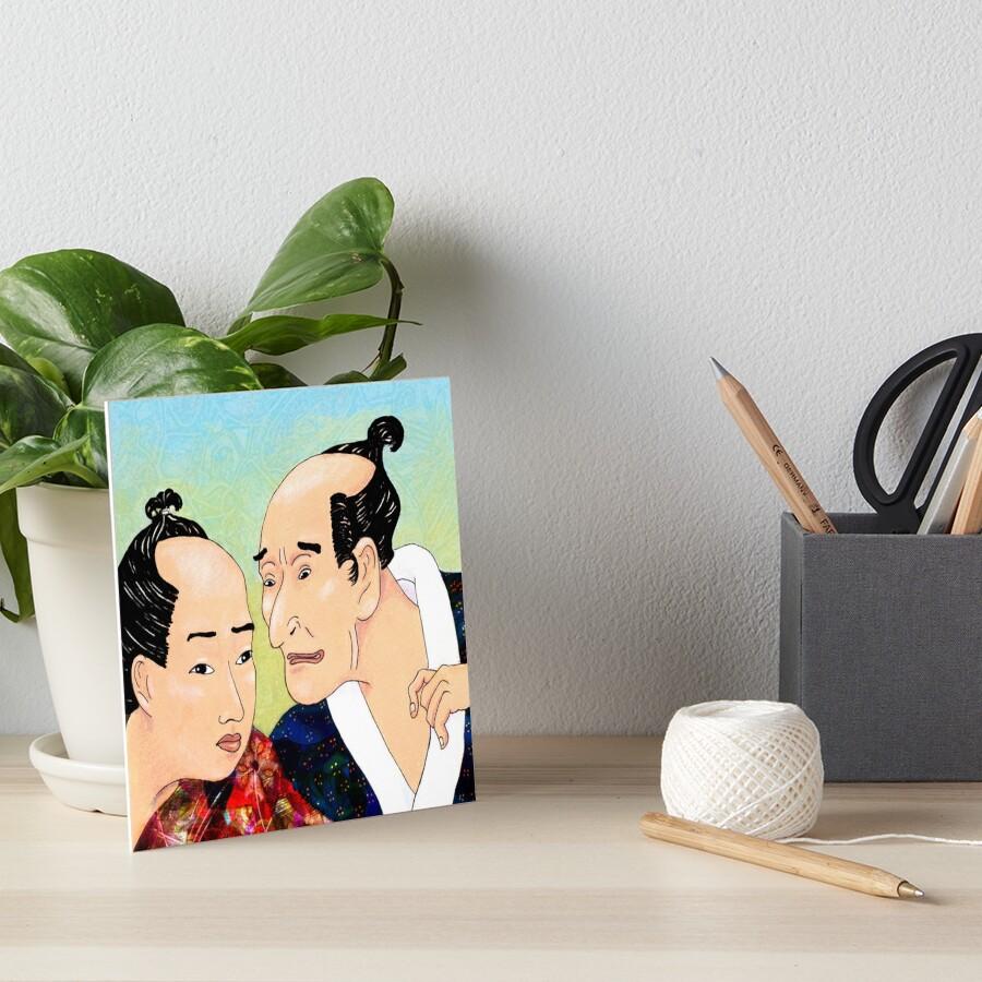 Mr Hokusai and Mr Hiroshige Art Board Print