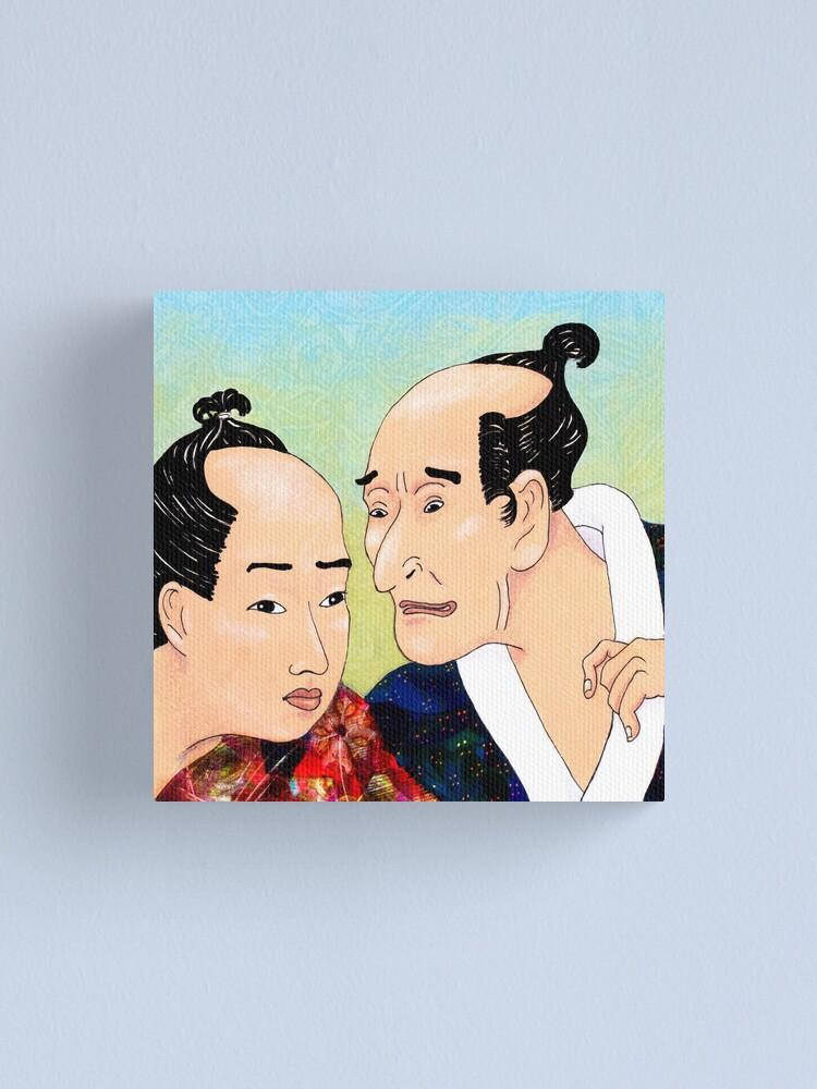 Alternate view of Mr Hokusai and Mr Hiroshige Canvas Print