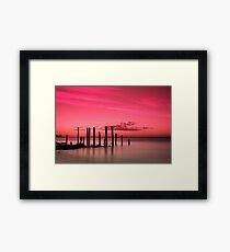 Port Willunga Jetty Ruins Framed Print