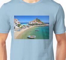 Kokkari embraced by the Aegean Unisex T-Shirt