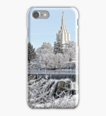 Mormon Temple - Idaho Falls Winter Scene iPhone Case/Skin