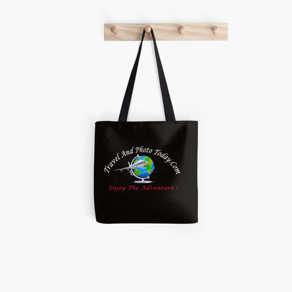 Travel And Photo Today - Logo - White & Red Letter Tote Bag