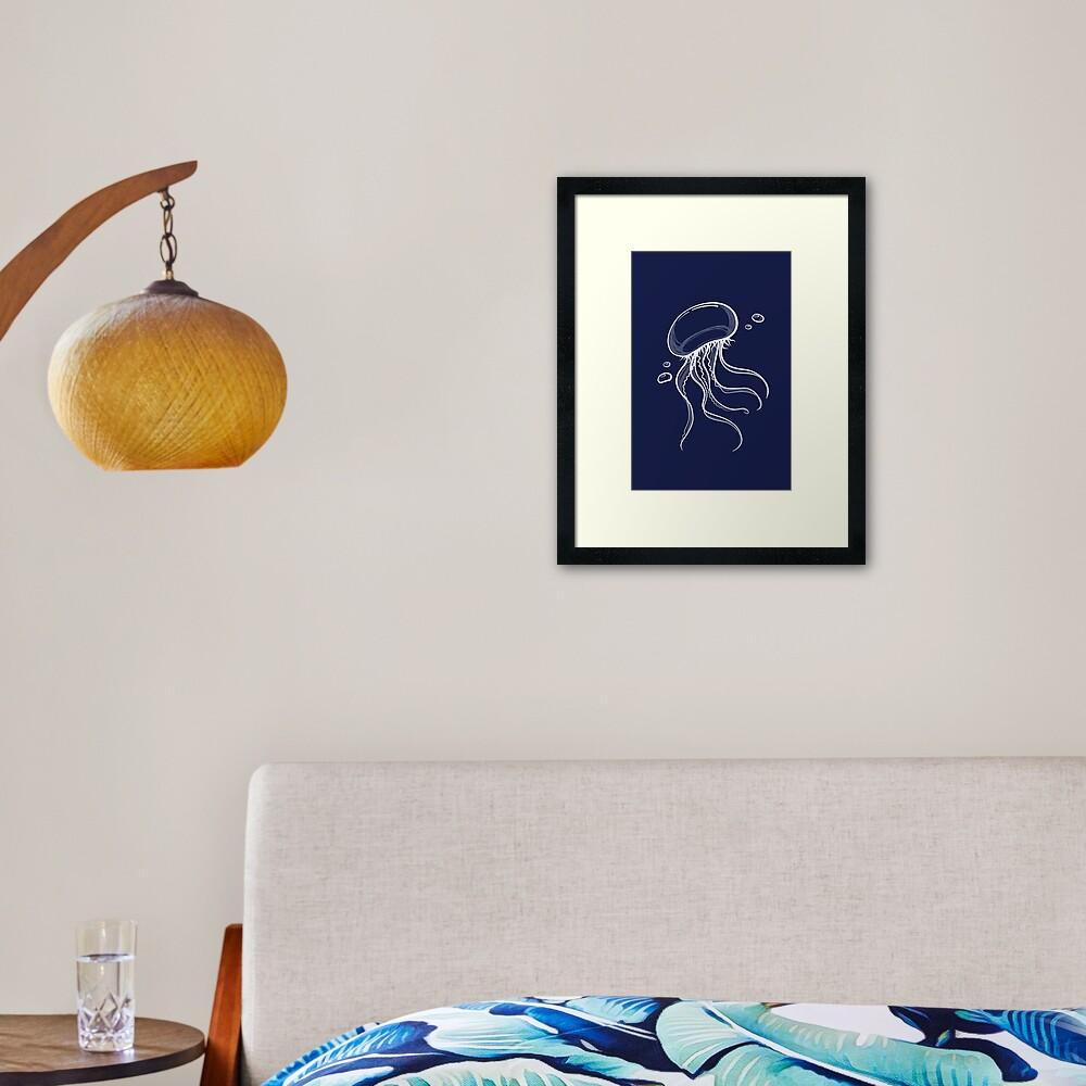 Sketchy Jelly Framed Art Print