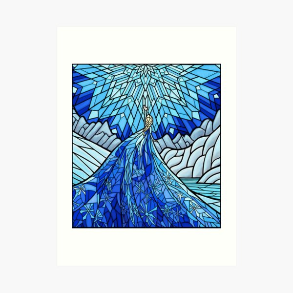 Frozen Fractals in the Stained Glass Window Art Print