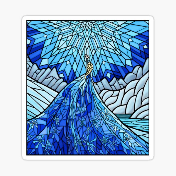 Frozen Fractals in the Stained Glass Window Sticker