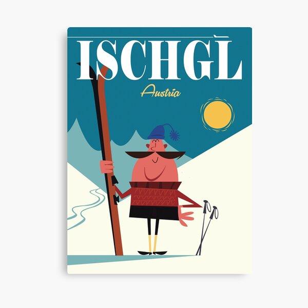 Ischgl poster Canvas Print