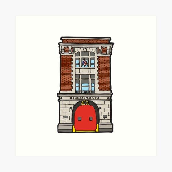 8 Hook & Ladder New York Fire Station Art Print