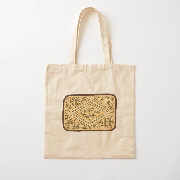 Custard Cream British Biscuit Cotton Tote Bag
