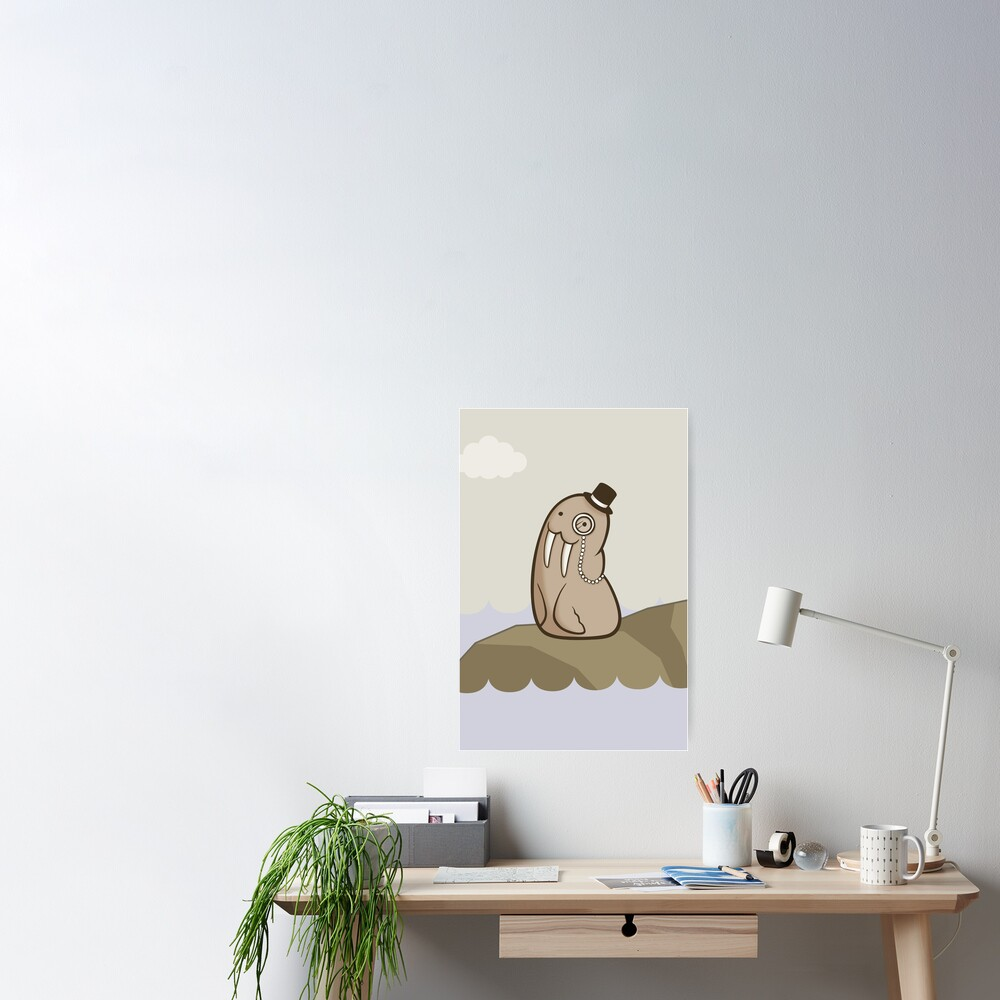 Dignified Walrus Poster