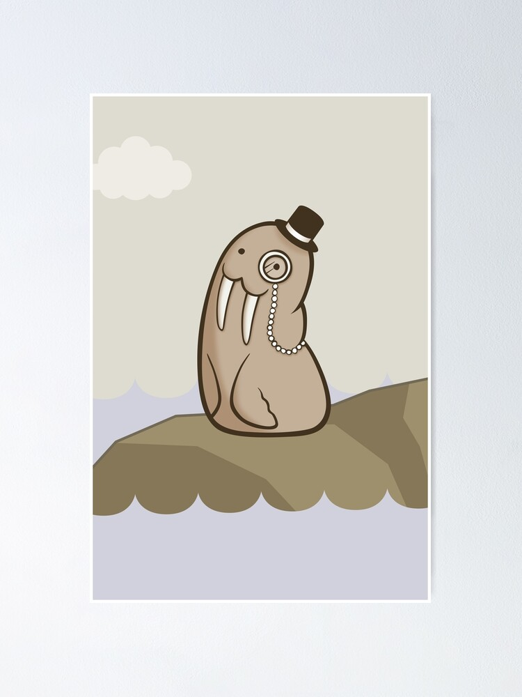 Alternate view of Dignified Walrus Poster