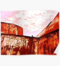 Collapsing Oil Storage Tanks, South Texas Poster