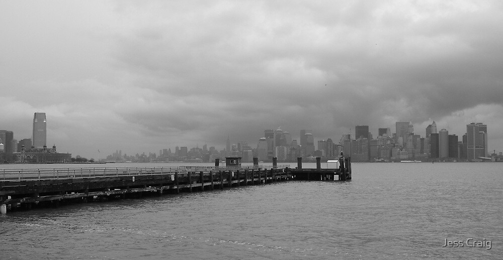 View of Manhatten from Liberty Island,New York by Jess Craig