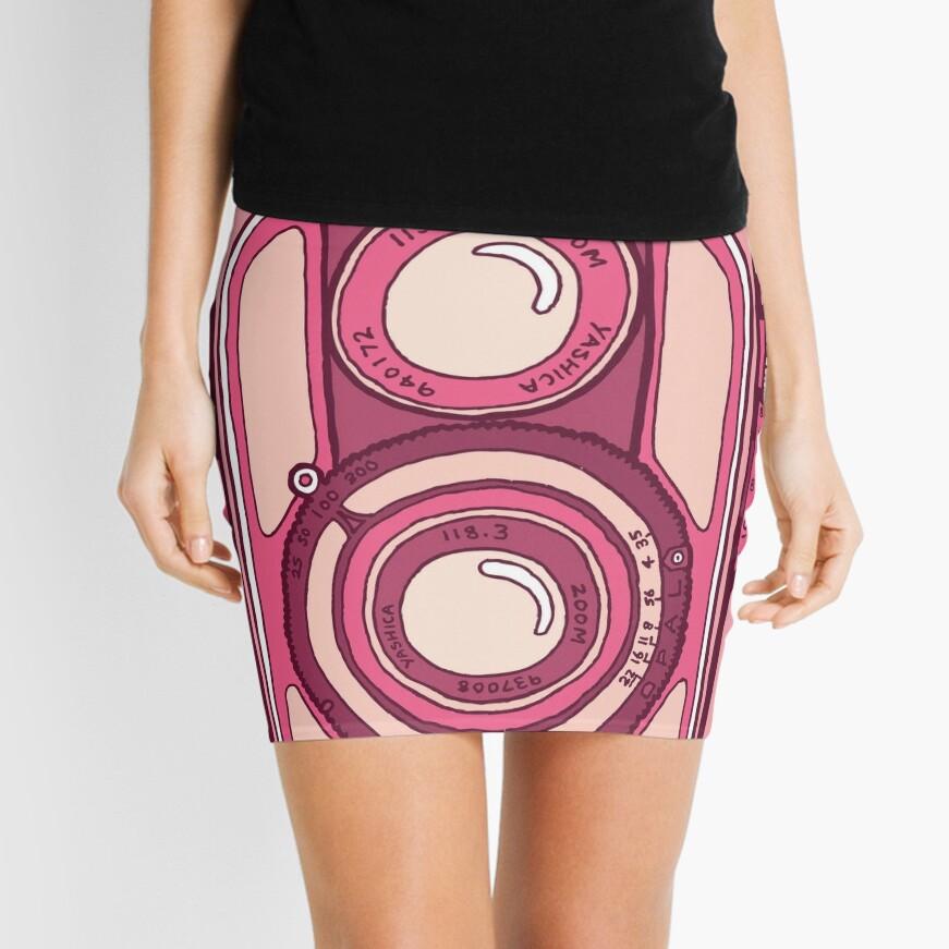Vintage camera pink Mini Skirt