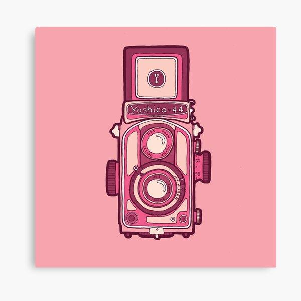Vintage camera pink Canvas Print