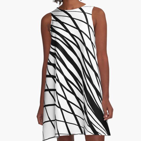 #Design, #abstract, #pattern, #illustration, psychedelic, vortex, modern, art, decoration A-Line Dress