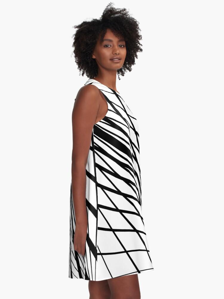 Alternate view of #Design, #abstract, #pattern, #illustration, psychedelic, vortex, modern, art, decoration A-Line Dress