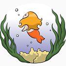 Girl In The Ocean (sticker) by Josh Bush