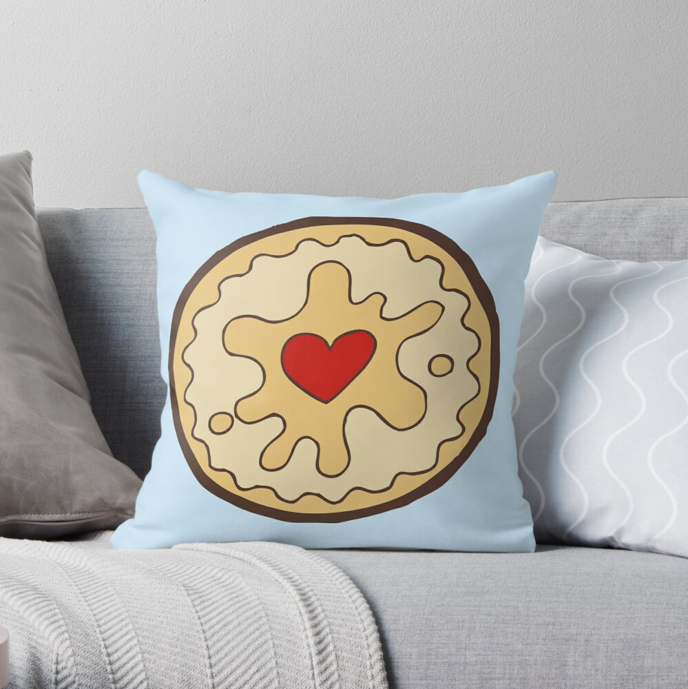 Jammy Dodger British Biscuit Throw Pillow