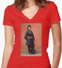 Pauline Cushman, a spy for the Union in the Civil War Fitted V-Neck T-Shirt