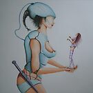 femme robot detail by juha