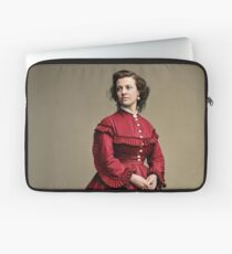 Pauline Cushman, actress and a spy for the Union in the Civil War. Made brevet Major by President Lincoln for her efforts in the war. 1865.  Laptop Sleeve