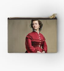 Pauline Cushman, actress and a spy for the Union in the Civil War. Made brevet Major by President Lincoln for her efforts in the war. 1865.  Zipper Pouch