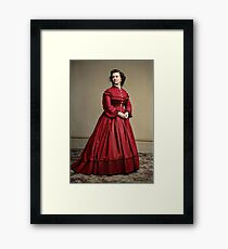 Pauline Cushman, actress and a spy for the Union in the Civil War. Made brevet Major by President Lincoln for her efforts in the war. 1865.  Framed Print