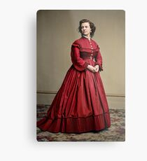 Pauline Cushman, actress and a spy for the Union in the Civil War. Made brevet Major by President Lincoln for her efforts in the war. 1865.  Metal Print