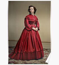 Pauline Cushman, actress and a spy for the Union in the Civil War. Made brevet Major by President Lincoln for her efforts in the war. 1865.  Poster